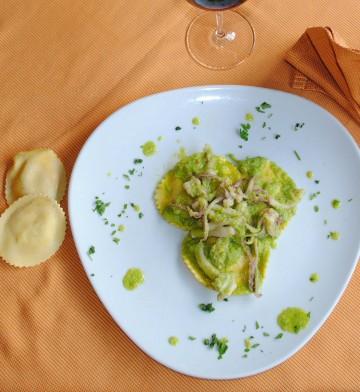 Primo piatto del ristorante La Pergola